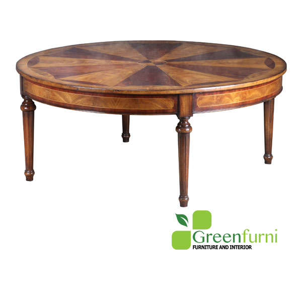 Round Coffee Table with Mozaik on Top Living room Furniture
