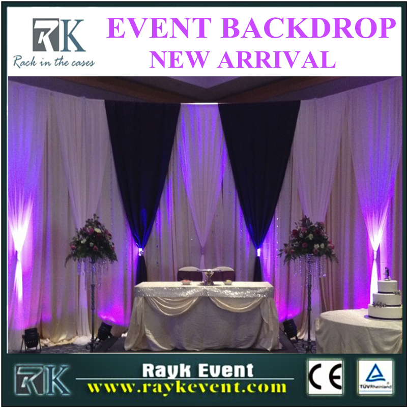 High quality pipe and drape stands flame retardant fabric wedding backdrop frame