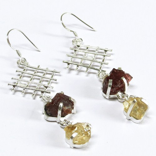 Fine_Silver_925 !! Citrine, Garnet Gemstone Wholesale Jewelry, Fashionable Big Selling Fancy Jewelry All Over World