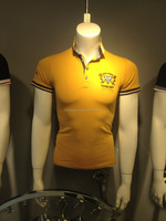 india mens contract color collar yellow polo shirt deisgn