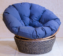 Romantic water hyacinth relax chair with cushion, Viet Nam factory, 2017 design