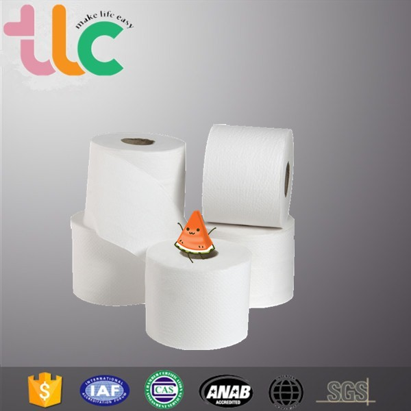 China toilet paper tissue wholesale in virgin pulp or recycled paper