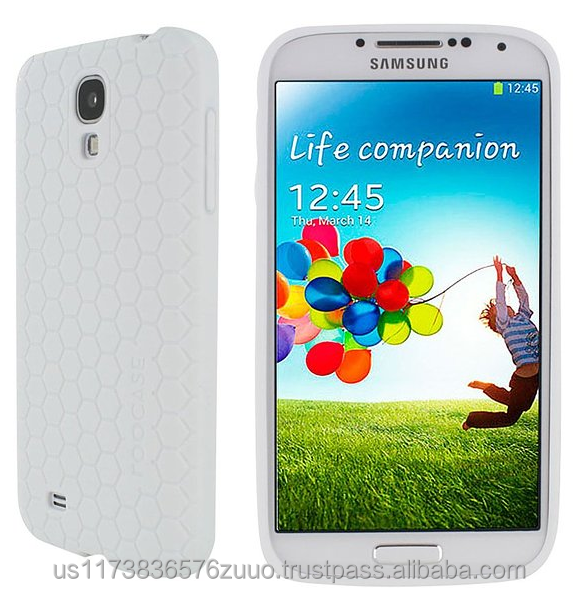 Ultra slim Honeycomb matte TPU shell case for Galaxy S4 roocase (White)