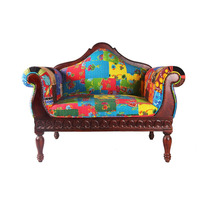 Indian Cotton Solid Wood Single Sofa Wholesale Bedroom Furniture Manufacturer Single Sofa Furniture