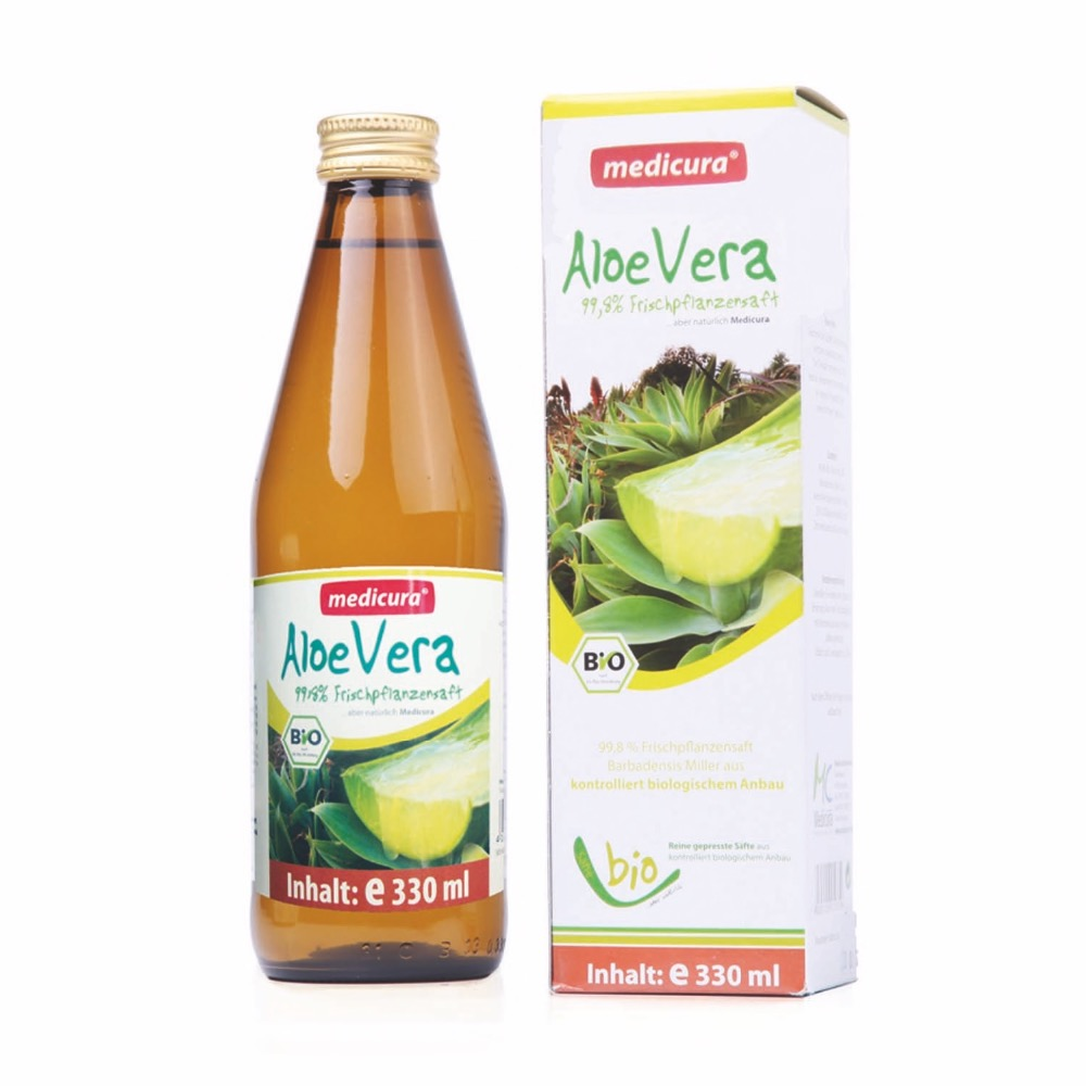 Organic Aloe Vera Juice - pure natural drink - Private Label Possible - MEDICURA