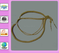 GOLD BULLION WIRE AIGUILLETTES HANDMADE KNITED UNIFORM AIGUILLETTES SUPPLYING WHOLESALE MILITARY AIGUILLETTES