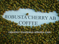 Robusta green coffee from India