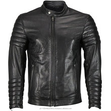 Padded leather jacket prime quality cow leather jacket pure leather jacket
