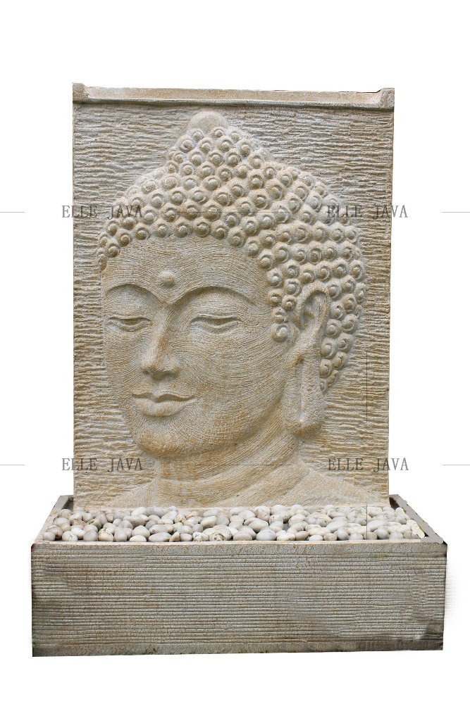 Buddha Face Water Feature White Landscaping Products