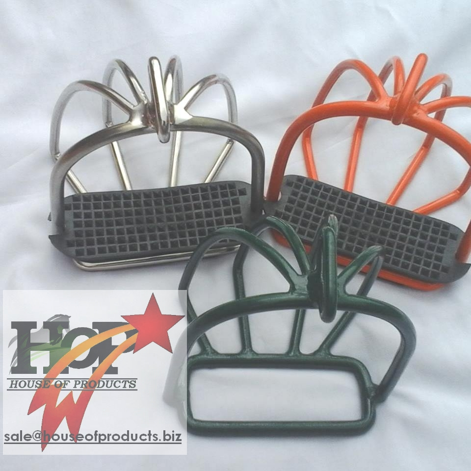 Stainless Steel Safety Stirrups With Cage Horse stirrups