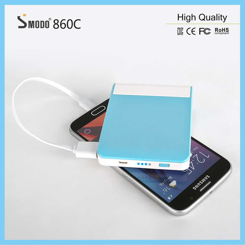2017 Top selling products mirro make-up box power bank 7000mAh phone stand