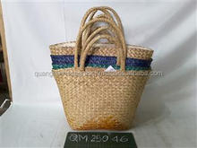 Top fashionable seagrass beach bag high quality wicker picnic basket cheap price bamboo tote bag made in Vietnam