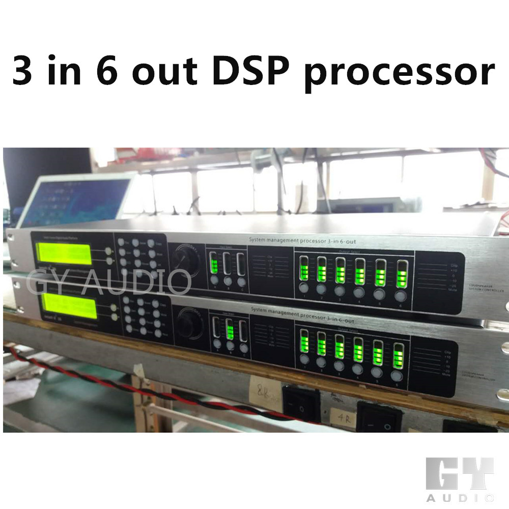 PD36 3 in 6 out Professional Digital Audio Video DSP Processor