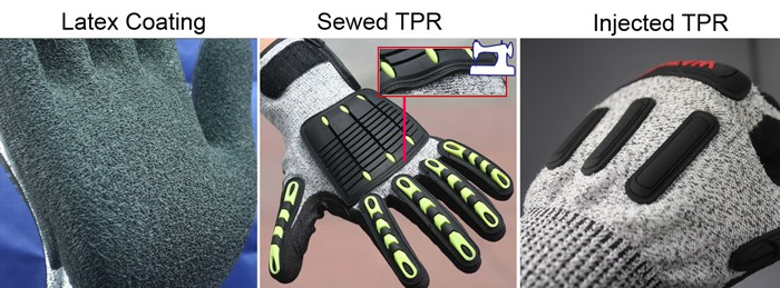 NMSAFETY anti-impact cut resistant cut level 5 sport bike racing sport gloves with TPR chips on back