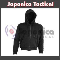 Cut Resistant Kevlar Lined Hoodie Sports Tactical Combat Apparel Black Sports Hoodie