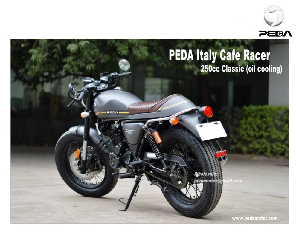 (PEDA MOTOR ITALY) 2017 Cafe Racer Tricycle Vintage Motorcycle 250cc CLASSIC Exclusive Retro Bike