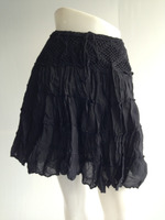 Crinkle Cotton Ladies Gypsy Short Skirt .