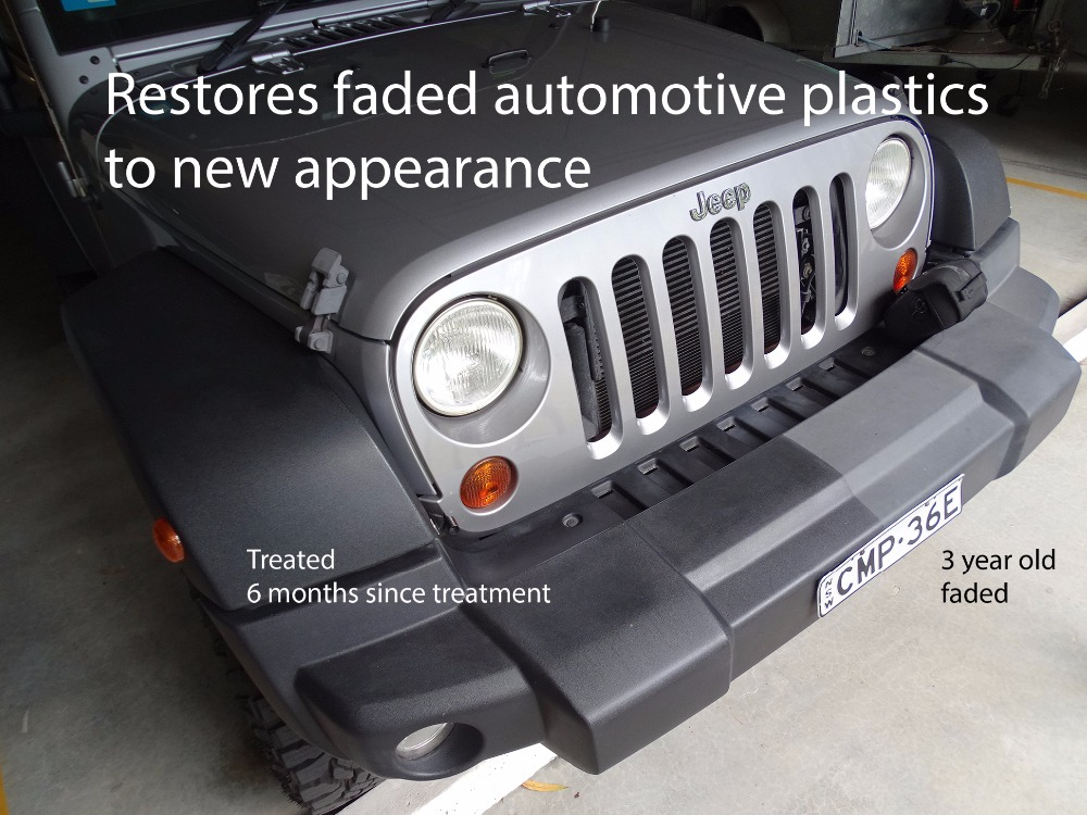 Automotive plastic trim restorer - ceramic surface treatment