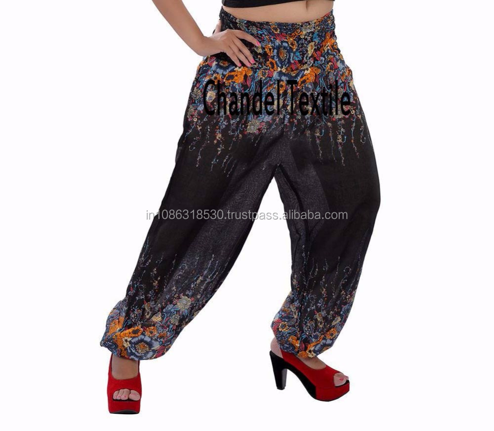 Black Harem Designer Alibaba Trouser Boho Gypsy Baggy Yoga pants Indian Trouser Aladdin gypsy yoga pant Trousers for wholesale