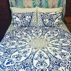 Indian Cotton Mandala Donna Cover King Size Wall Hanging Throw Duvet Hippie