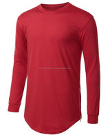 Men's slim fit T-shirt, Short sleeves, Crew neck 90% Cotton 10% Elastane long sleeve