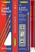 2B - HB black lead writing pencils