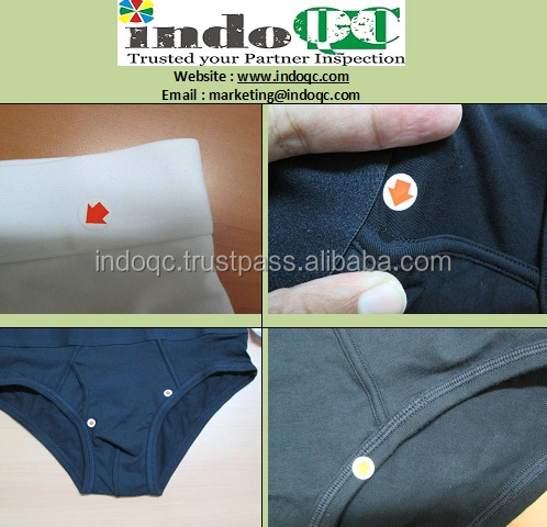 Mens and Ladies underwear Inspection services company / QC services / product quality control in indonesia