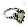 stunning Green Amethyst Gemstone Handmade Silver Jewelry Fashion Ring Bulk Wholesale Silver Jewelry Supplier