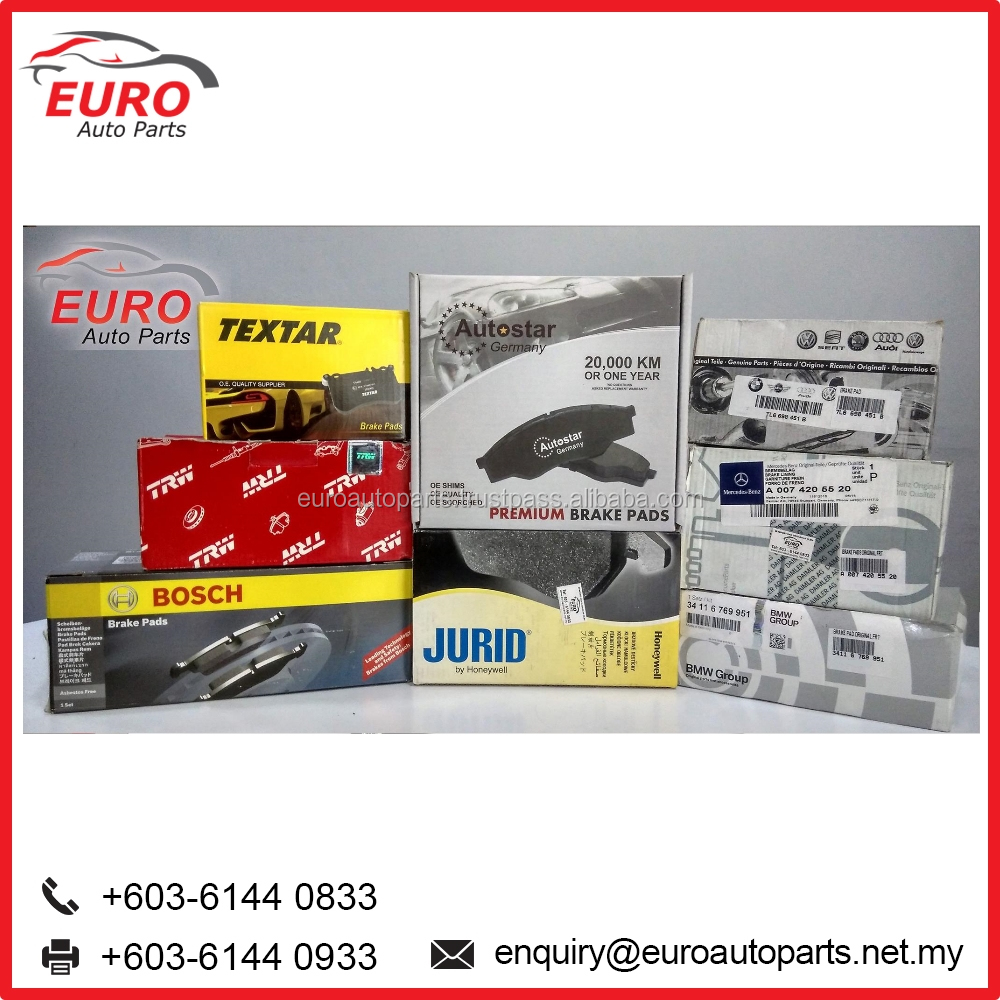 Euro Car Brake Pads Parts for Audi, BMW, Mercedes, Benz, Porsche and Volkswagen
