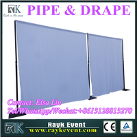 Room Divider pipe and drape system with base plates wholesale pipe and drape