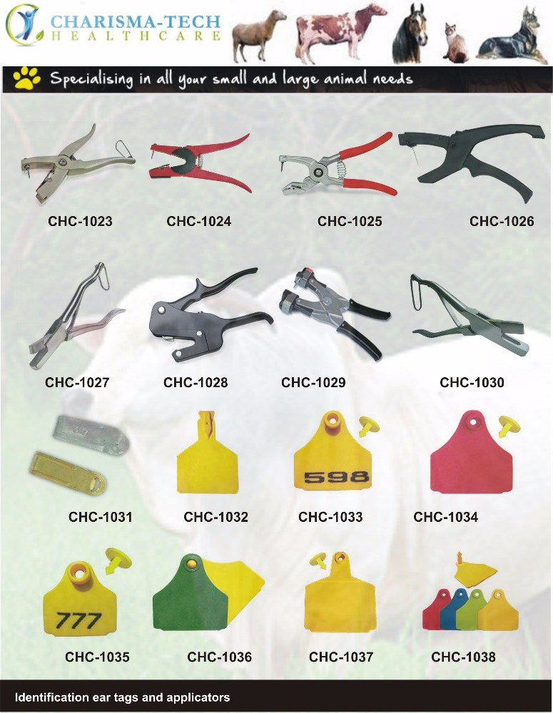 Hot sell aluminium alloy green color factory price animal ear tag plier for sheep,pig,cattle