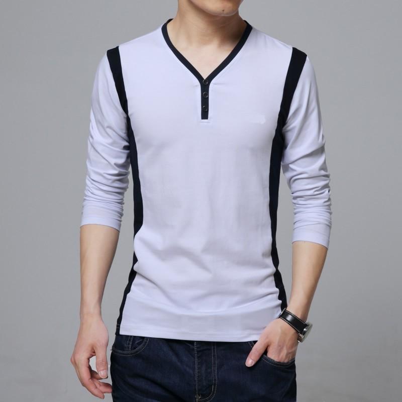 Mens long sleeve t shirt design v neck buy long sleeve t for T shirt design v neck
