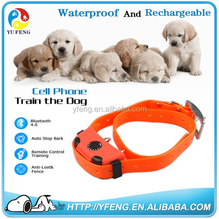 2016 hot Dog training collar control by I-phone bluetooth waterproof with Static Impulse and vibration shock training collar