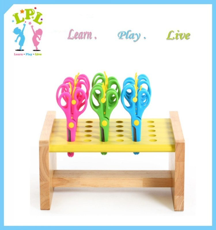 High quality kids art supplie good looking collect 30 pairs rack display for scissor