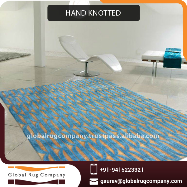 Hand Knotted Rug or Carpet made from Excellent Quality Bamboo at Cheap Price