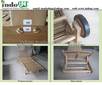 wooden Teak furniture inspection services / Quality control / pre-shipment inspection / container loading in indonesia
