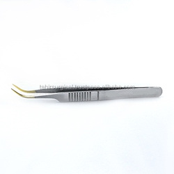 High Precision Tweezers - Hooked 4 1/2 inch/ Eyelash Extensions Tweezers