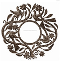 Metal handicraft decorative round wall hanging mirrors