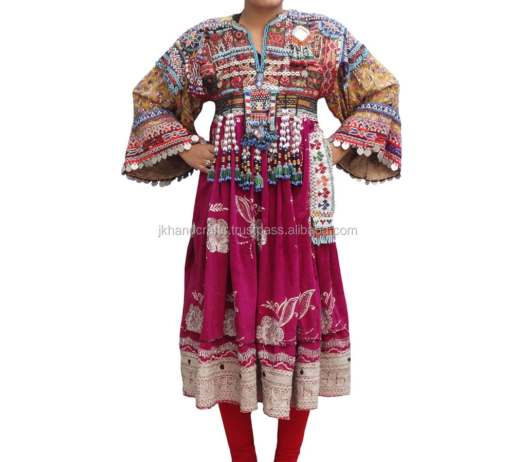 Vintage Banjara Handmade Lady Dress Gypsy Heavy Kutchi Dress
