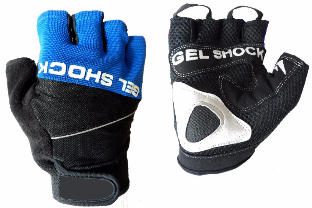 GEL SHOCK PADDED CYCLING / CYCLE / MOUNTAIN BIKE BICYCLE MTB BMX GLOVES S - XL