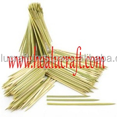 Natural one point round bamboo skewers made in Vietnam