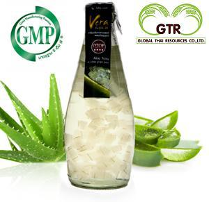 Aloe Vera Drink with Pulp in White Grape Juice (and Tropical Fruit Juice,Honey or Tea)