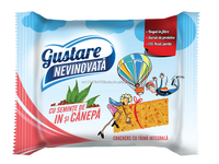 Gustare Nevinovata (Guilt Free Snack) crackers with flax and hemp seeds