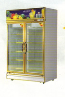 2 heater glass door chiller commercial refrigerators