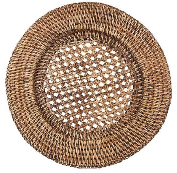Vietnam Hot Selling Round Rattan Chargers Plates