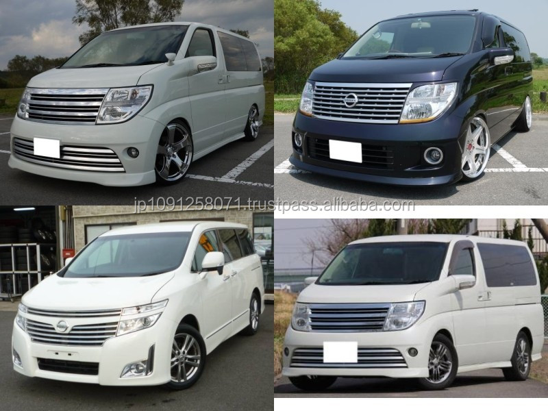 High quality and Reliable used nissan elgrand car with good fuel economy made in Japan