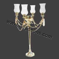2015 Hurricane Collection Aluminium Candelabra for Wedding
