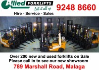 Used forklifts and container handlers