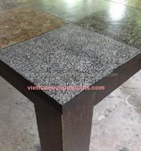 1322090915 Lacquer table with eggshell on the face like floor tile