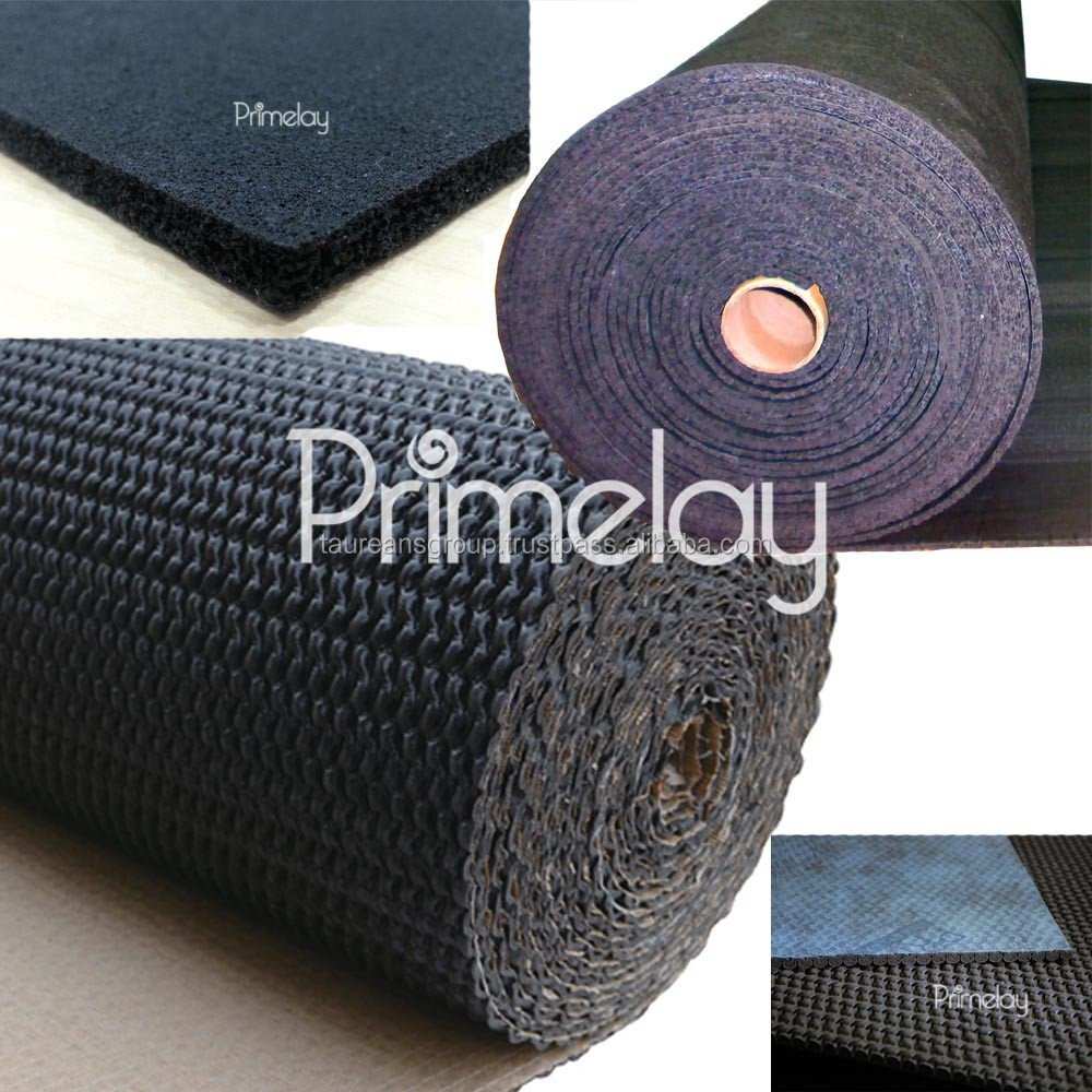 PRIMELAY brand Rubber Carpet underlay - Acoustic & Insulation underlay with non woven & stitch paper backing